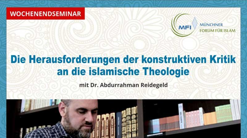 Wochenendseminar mit Abdurrahman Reidegeld