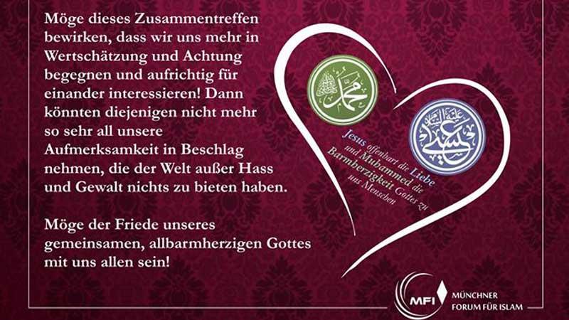 Friedensbotschaft des Münchner Forums für Islam