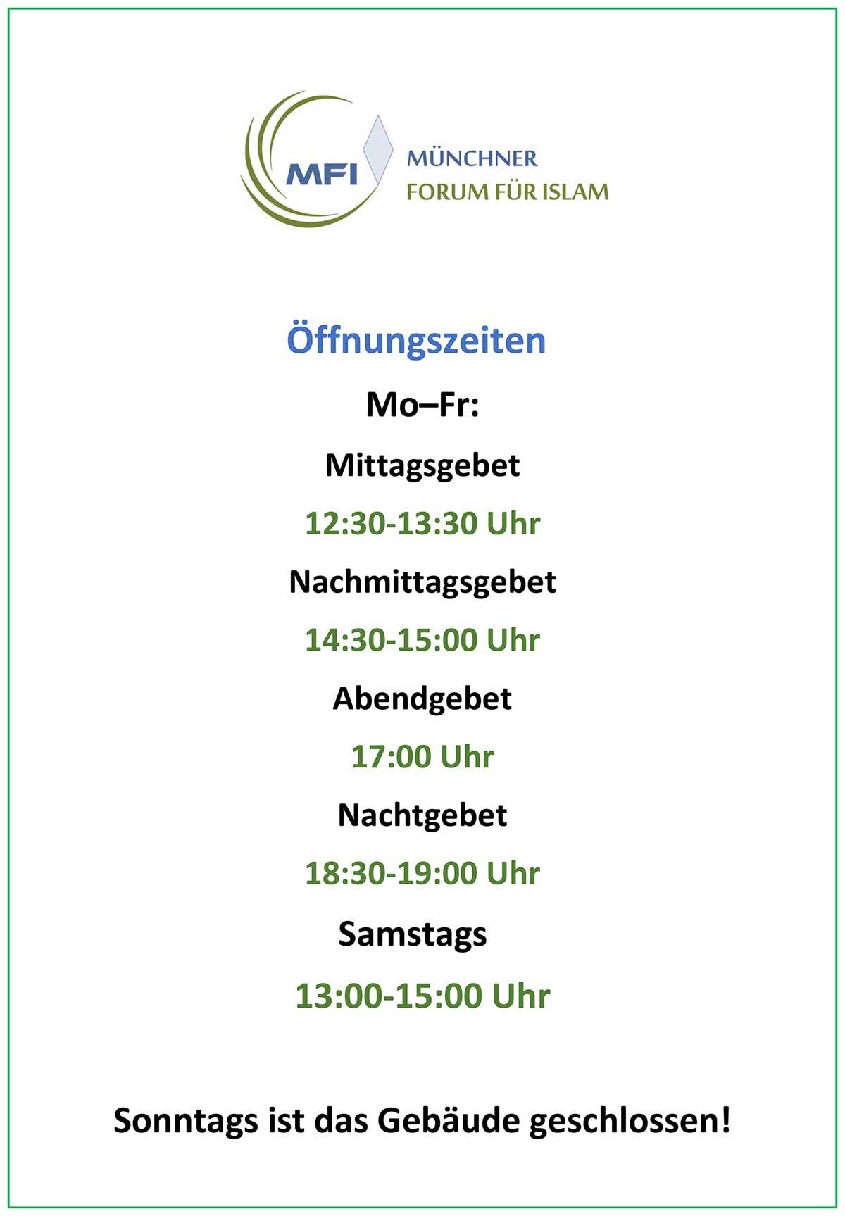 MFI Öffnungszeiten