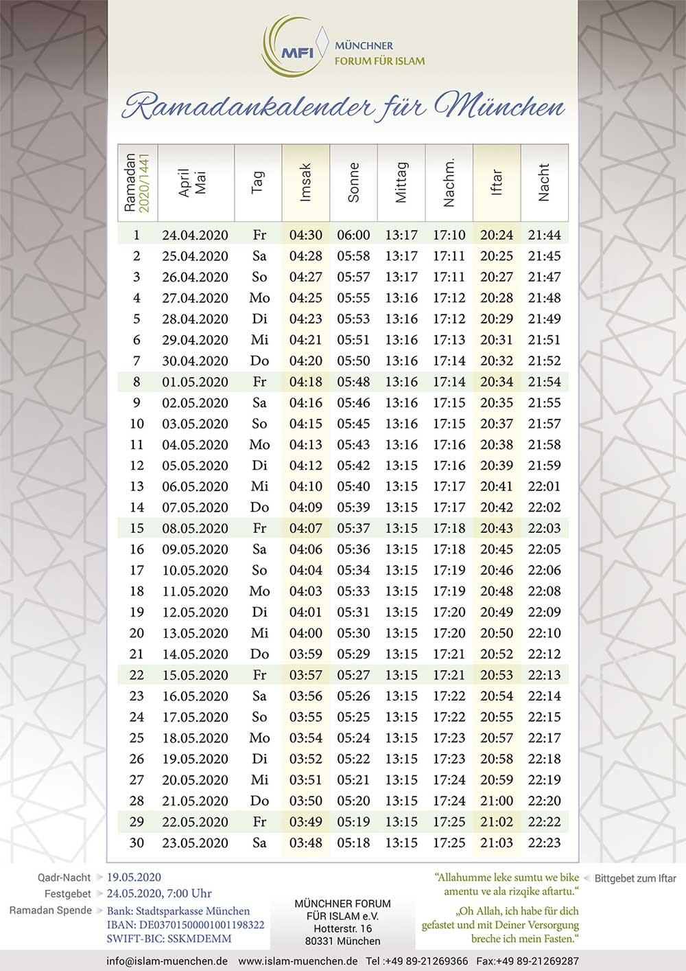 MFI Ramadankalender 2020