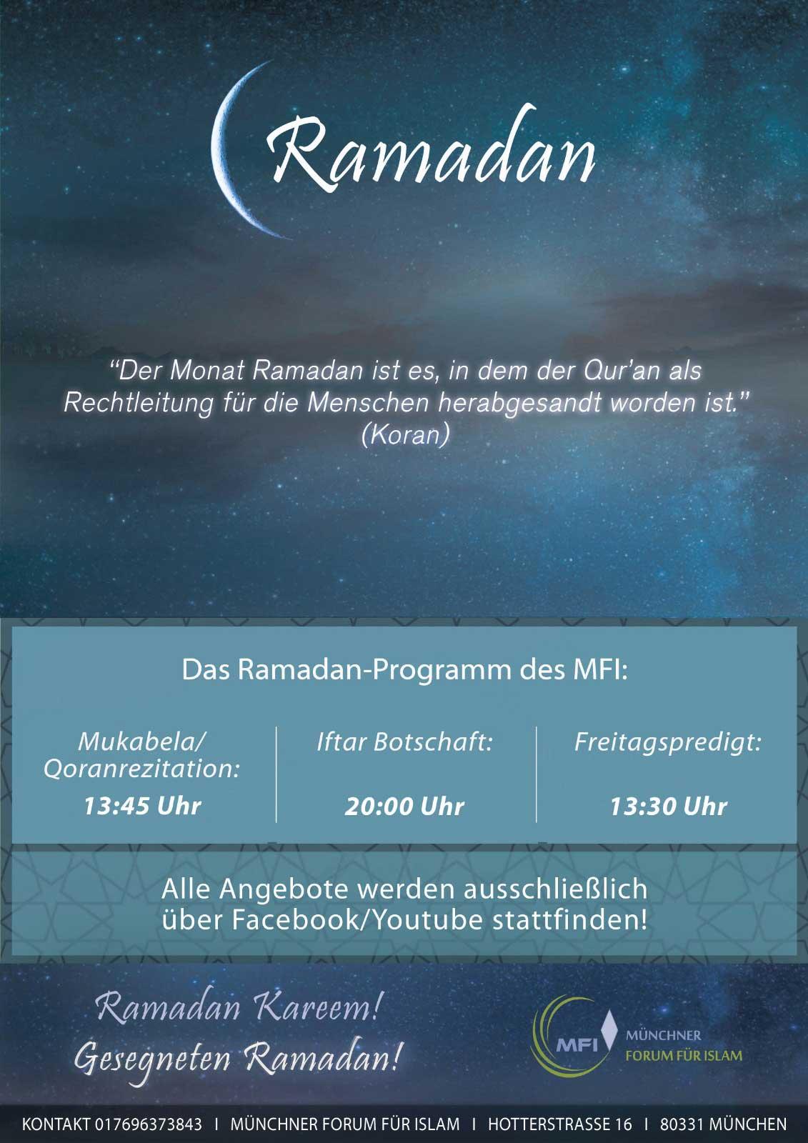 MFI Programm: Ramadan 2020