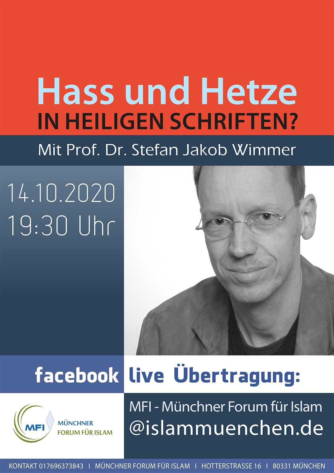 Dr. Stefan J. Wimmer: Hass und Hetze in Heiligen Schriften