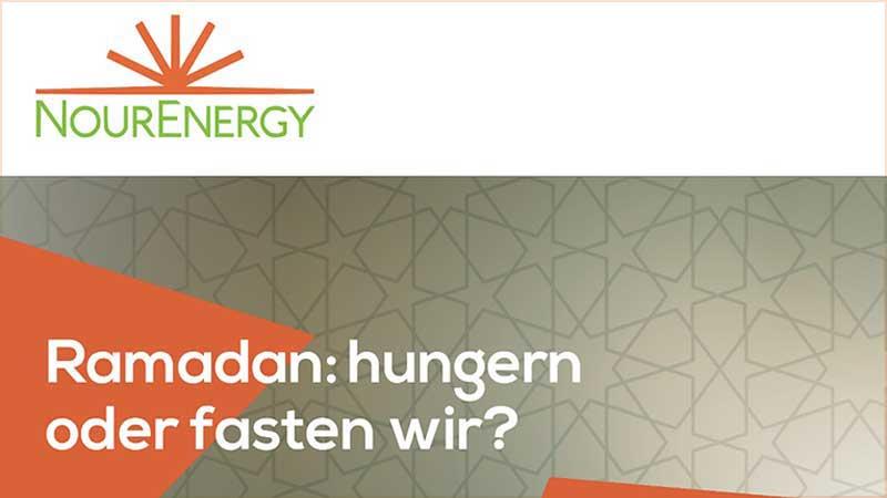 Ramadan: Hungern oder fasten wir?