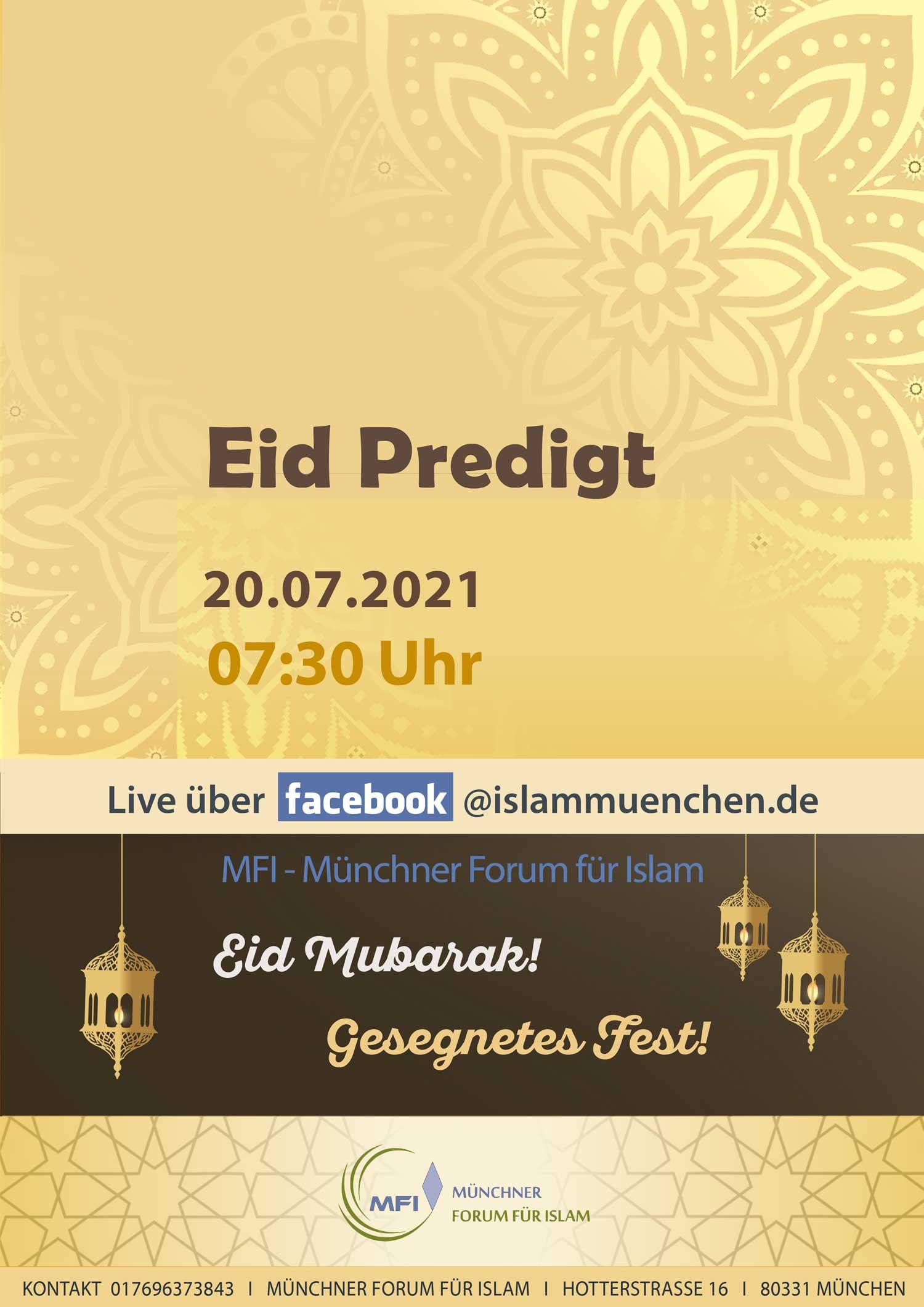 Eid Predigt Juli 2021